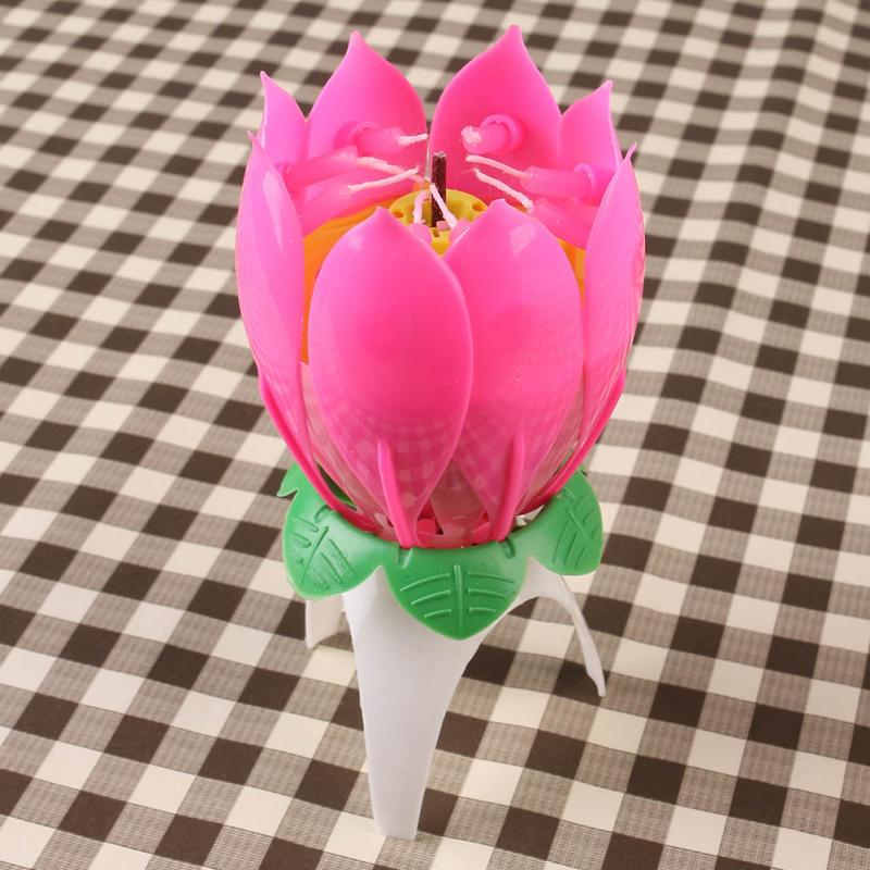 Cheap Candle Sparklers Buy Quality Topper Cake Directly From China Parts Suppliers 1x Pink Magical Flower Musical Birthday Party Decoration