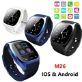 M26 Bluetooth V4 0 Luxury Wrist SmartWatch Phone Mate With SMS Remind Pedometer For iPhone Android