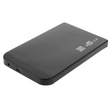 "Wholesale DropShipping 1Pc  Black USB 2.0 480Mbps Enclosure Case Box for Laptop 2.5"" SATA Hard Drive(China (Mainland))"