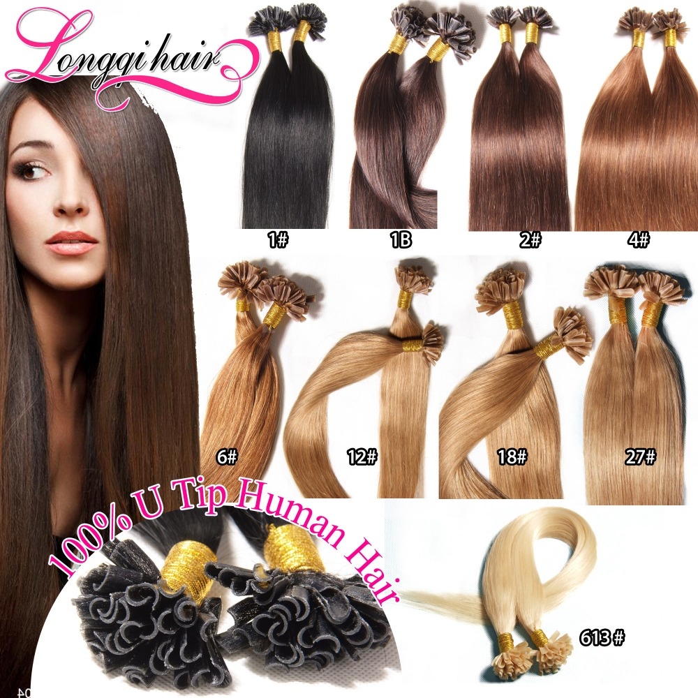 "Hot Selling Nail / U Tip Human Hair Extensions 18"" 20"" 22"" 24"" 50g Fusion Remy Keratin Tip Hair Extension Nail Hair Extensions(China (Mainland))"