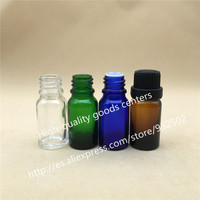 Free Shipping High quality Retail 10pcs/lot 10ML Glass Packing Bottles, Essential Oil With Screw On Cap, Reducer Bottles