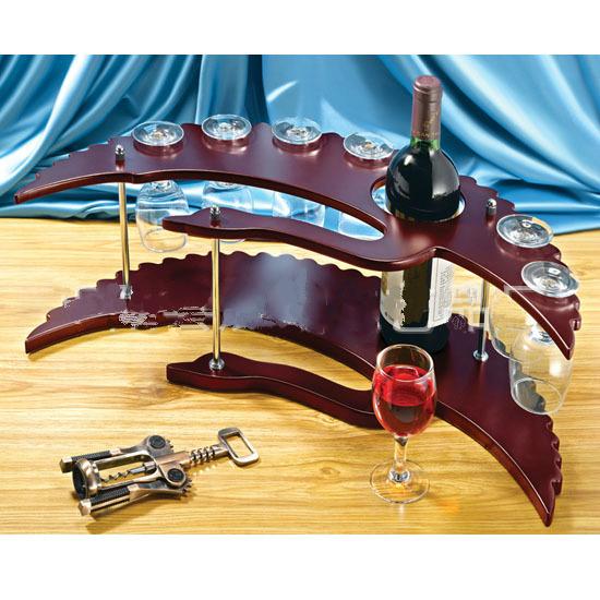 2016 hot creative wood wine rack perfect quality wine shelf home decoration Gifts mini bar counter(China (Mainland))