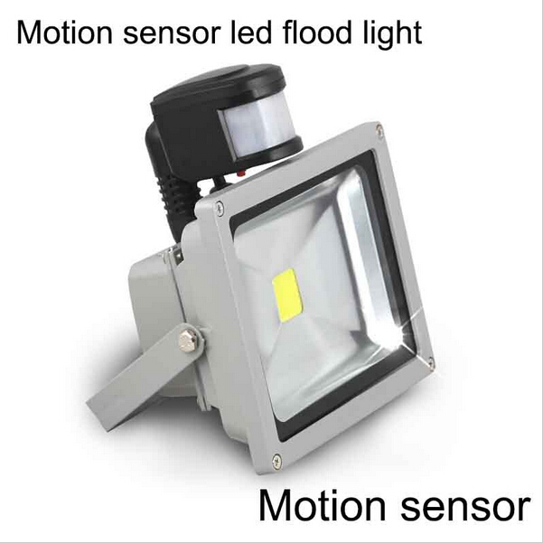 Free Shipping Hot Motion sensor Outdoor 10W 20W 30W 50W led floodlight 85-265V IP65 LED Flood Light with motion sensor(China (Mainland))