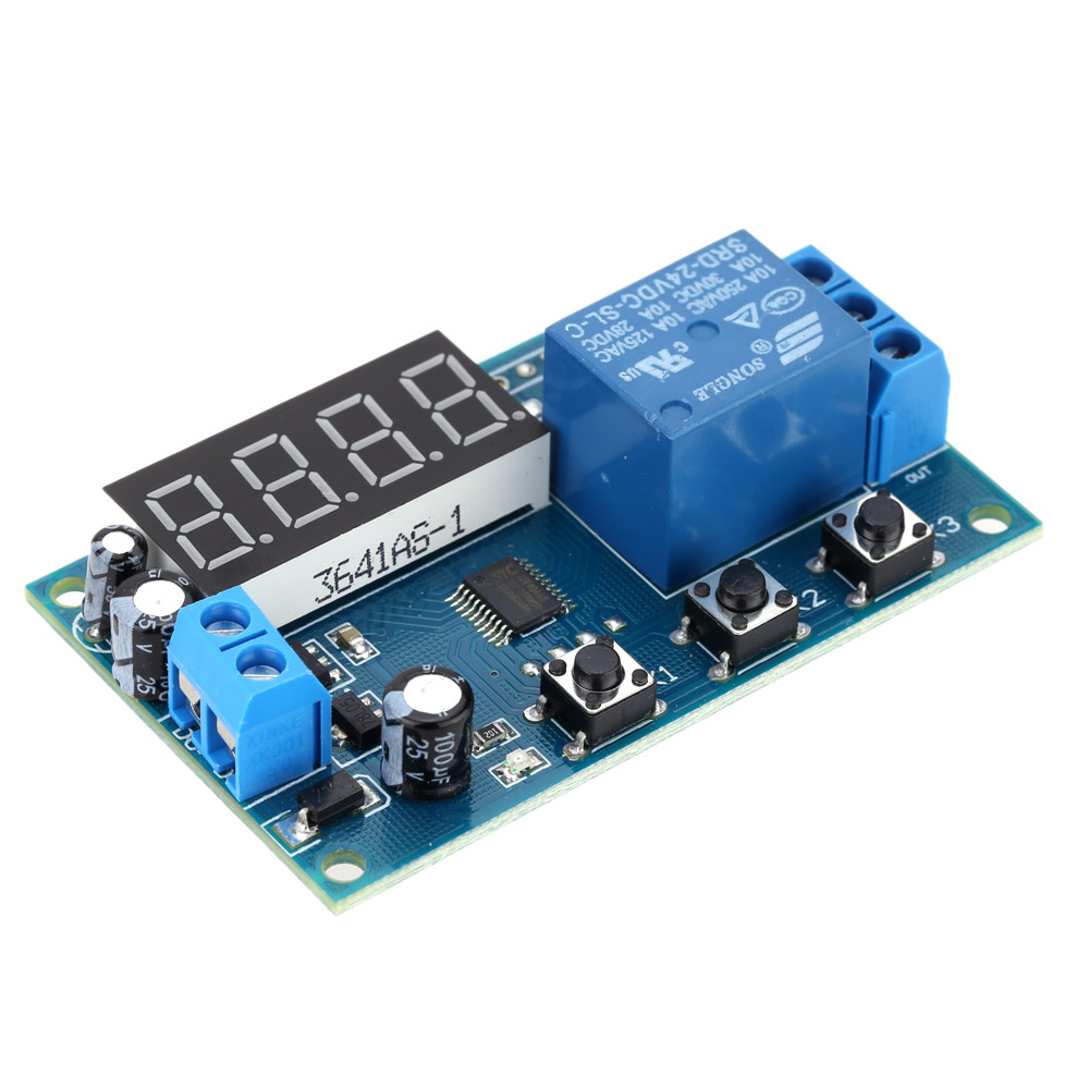 Multifunction Delay Time Relay Module Timing Switch Control Cycle Timer DC 12V LED Display Intelligent Control Time Relay/Delay(China (Mainland))