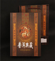 Pu'er tea gift box,single beautiful packaged collection Pu'er tea cake, healthy and eco-friendly box+ free shipping