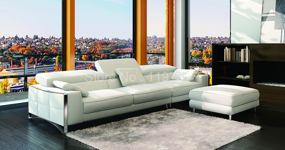 living room furniture genuine leather sofa sectional sofa american style modern design good quality free shipping(China (Mainland))