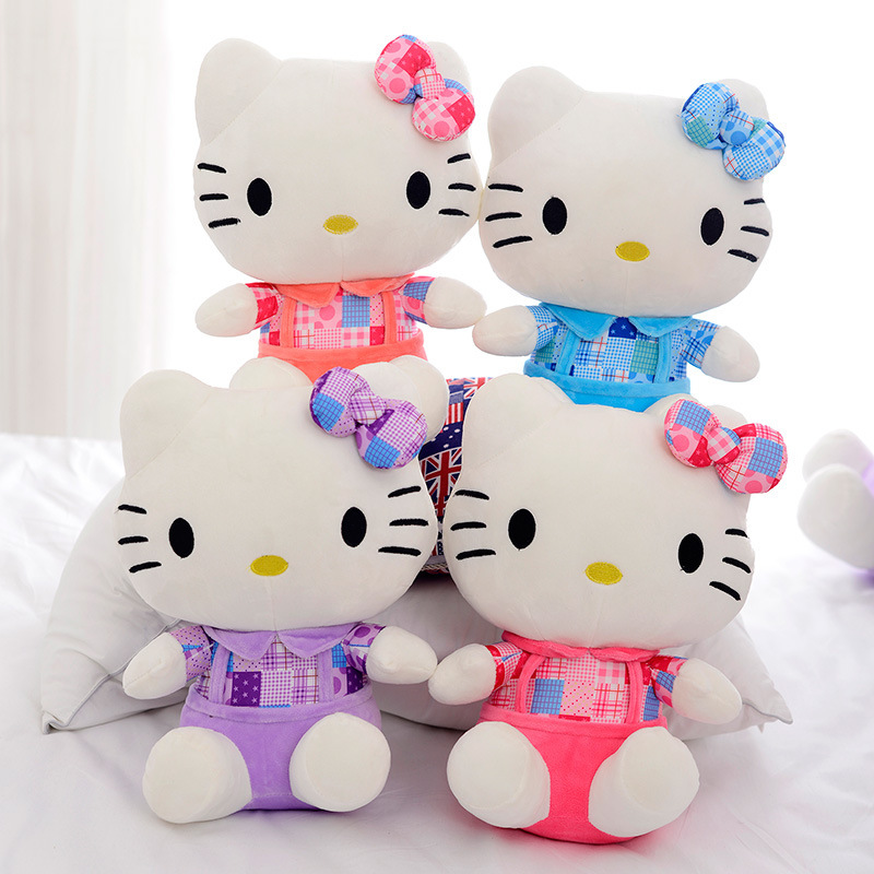 Retail New KT Cat Hello Kitty Stuff Plush 25CM Toys Big Kawaii Hello Kitty Doll Peluche Pillow Gifts For Kids Baby Girl Gifts(China (Mainland))
