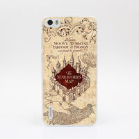 6851-OIE Harry Potter Marauders Map1 Hard Case Cover for Huawei P6 P7 P8 Lite P9 Lite Plus & Honor 6 7 4C 4X G7