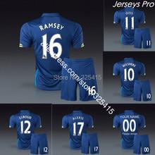 Ozil alexis ramsey giroud santi cazorla wilshere walcott welbeck chamberlain third 3rd blue Soccer jersey uniforms football kit (China (Mainland))