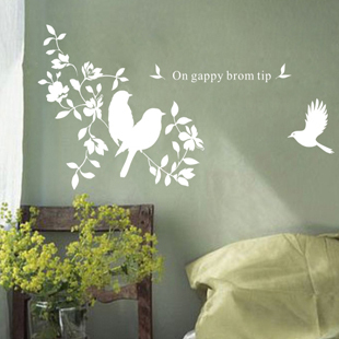 Tv background wall child cartoon animal wall stickers wall covering furnishings bird(China (Mainland))