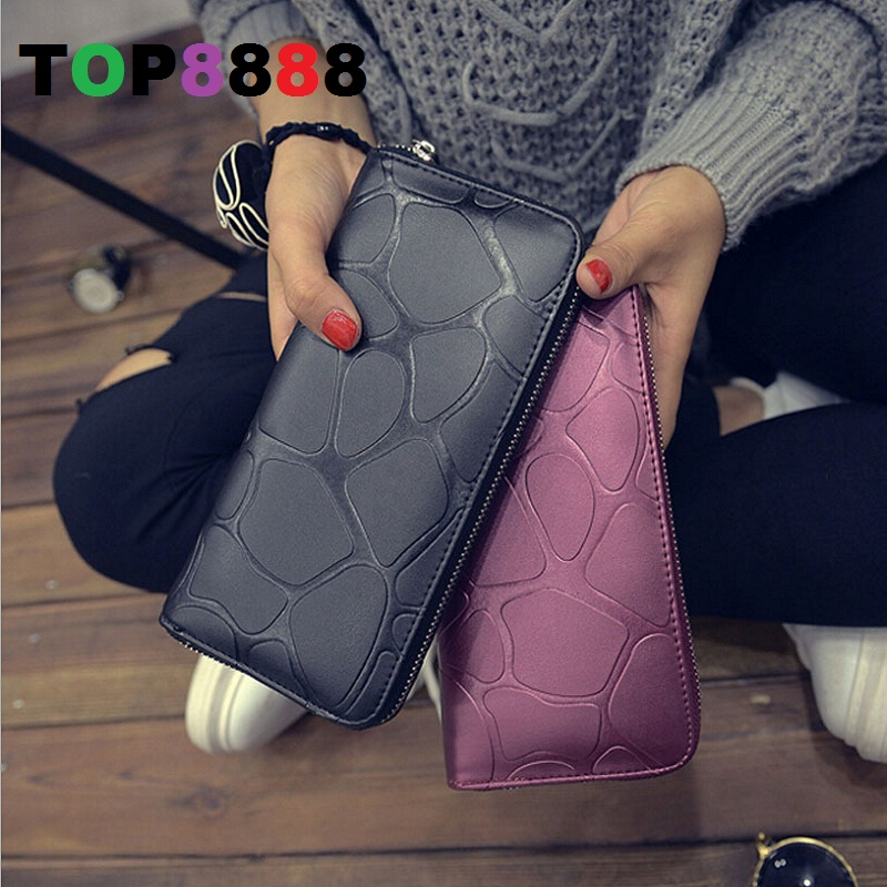 6 Colors Fashion Women Mini Long Wallet Elegant Stone Grain Purse Cool Lady European Wallets For Girl's Student Bag H121(China (Mainland))