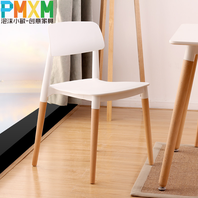 Nordic wood chairs designer chair fashion casual European-style dining chair wood chair creative furniture(China (Mainland))