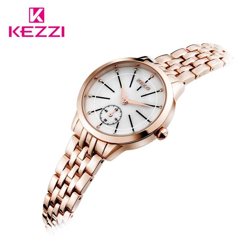 Новая Мода Luxury Brand Женщины Платье Часы Кварцевые Браслет Из Розового Золота/Серебристый Смотреть KW1454 Водонепроницаемый Relógio Feminino