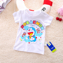 Free shipping New Lovely printting Baby Kids Boys girl Cartoon Tops T-shirts summer children's clothing Age 0-2Y