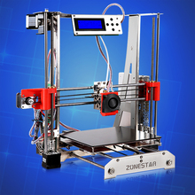Full Metal Reprap Prusa i3 3d Printer DIY kit  Stainless Steel Easy Installation 2 Roll Filament 8GB SD card LCD  free shipping
