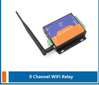 8 door and gate output WIFI Relay access controller board/wifi control module controller Support Android and IOS APP