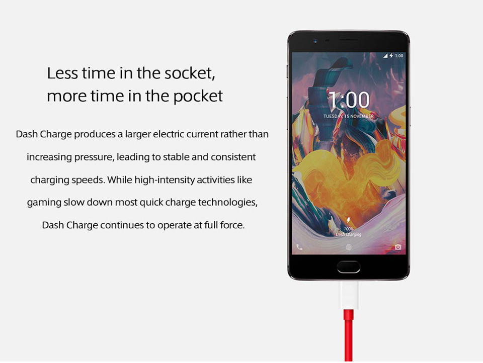 Original Oneplus 3T Cell Phone RAM 6GB ROM 64GB Snapdragon 821 Quad Core 5.5″ Android 7.0 16MP NFC Fingerprint 4G LTE Smartphone