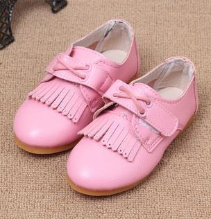 Children's dress shoes girls spring 2016 brand baby girls tassel fashion school single elsa shoes chaussure enfant fille 503a(China (Mainland))
