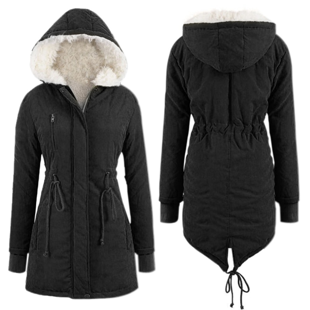 Ladies black padded winter coat – Modern fashion jacket photo blog