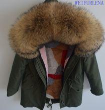 2018 90 cm neue Luxuriöse winter jacke frauen outwear dicke warme parkas natürliche echt fox pelz kragen mantel mit kapuze pelliccia(China)