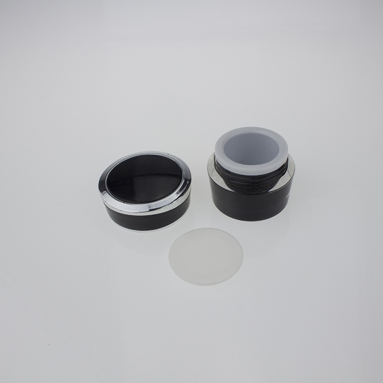 JA92 black acrylic mini jars for sale   acrylic 5g mini cosmetic containers   5g small black plastic containers(China (Mainland))