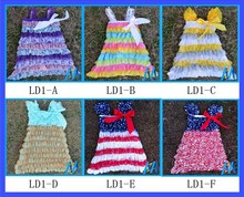 150Pcs/Lot Baby Girl Christening Gowns Dress Baby Girls Lace Dress 4th Of July Summer Robe Fille Enfant Baby Dresses DHL Free(China (Mainland))