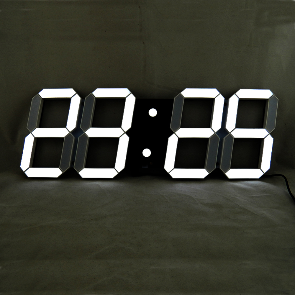 Remote control large led digital wall clock modern design Digital led wall clock