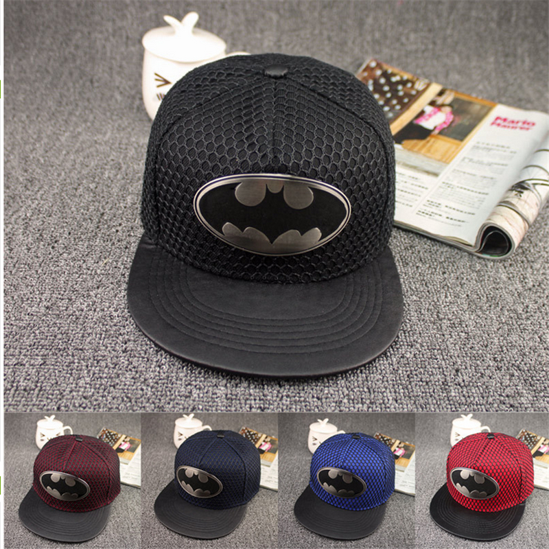 Free Shipping 2015 fashion cartoon Batman Snapback caps Hip Hop hat spring and summer baseball cap Benn(China (Mainland))