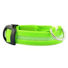 2016 Special Offer !!! LED Nylon Pet Dog Collar Night Safety LED Pets Cat & Dog Collar Free&Drop Shipping 6 Colors(China (Mainland))
