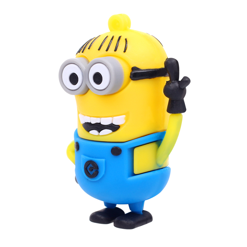 Despicable me Minions USB 2.0 flash drives 4GB 8GB 16GB 32GB 64GB pendrives flash memory stick car/thumb/card/pendrives gift(China (Mainland))