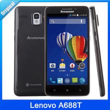 "Original Lenovo A688T 5.0"" IPS Android 4.4 Smart Phone MTK6582+MTK6290 Quad Core 1.3GHz RAM 1GB ROM 4GB GSM 2000mAh Cells Phone"