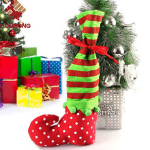 Buy Lovely Large Size Felt Personalized Christmas Stocking Elf Foot Xmas Decoration Socks Santa Claus Gift Candy Bag Children for $2.48 in AliExpress store