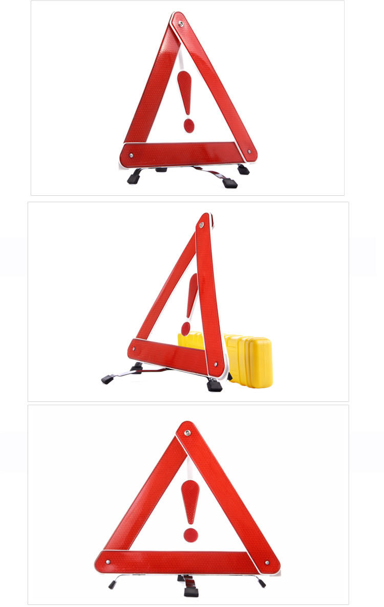 Car Safety Parking Folded Reflective Signs Warning Triangles Tripod Stop Highway Breakdown Vehicle Prompt Board YA392-SZ(China (Mainland))