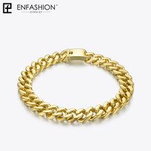 Enfashion duży silny Link Chain Chokers naszyjnik kobiet złoty kolor ze stali nierdzewnej oświadczenie naszyjniki naszyjnik mężczyzn biżuteria PM3014(China)