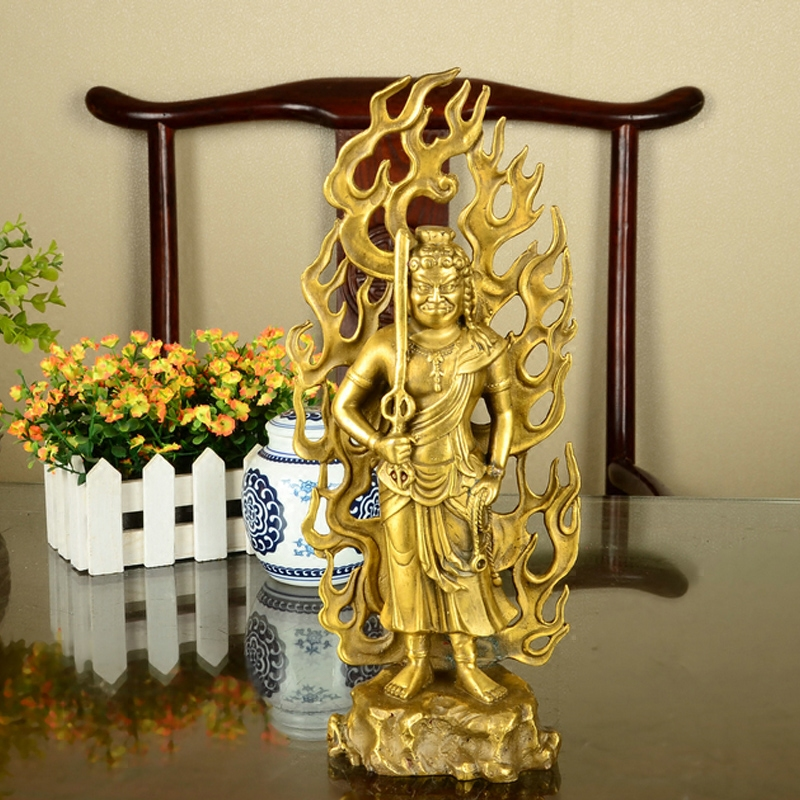A copper Fudo Buddha does not move Bodhisattva statue <font><b>Rooster</b></font> natal Buddha ornaments <font><b>Home</b></font> Furnishing <font><b>decorations</b></font>