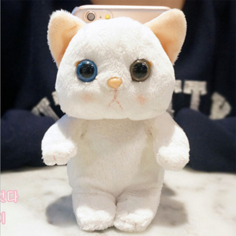 2016 Fashion Newest 3D Cartoon Cute Animal Panda Cat Plush Toys Cell Phone Case For iphone 6 4.7'' Hard Capa Phone Bag Hot Sale(China (Mainland))