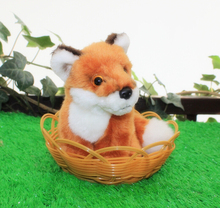 Baby Gifts Car Ornaments Toy Simulation Crimson Fox Stuffed Animal Small Doll Plush Foxes Toys