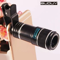 DHL Shipping Phone Lens Universal Clip On 12x Telephoto Lens Mobile Phone Optical Zoom Telescope Camera For iPhone Samsung HTC