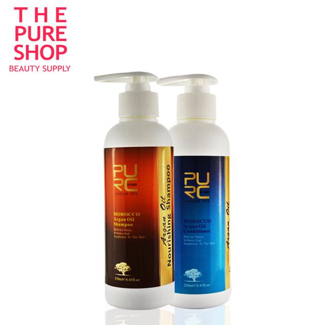 Шампунь и кондиционер для волос 250 мл 2 шт. марокканский чистый аргановое масло ...