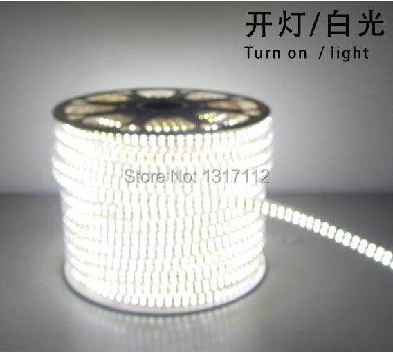180Leds/m,900Les/5M 2835 SMD LED strip flexible light 220V 60LED/m 100m/lot,The2835 Power Consumption as 3528,Brightness as 5050(China (Mainland))