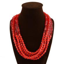 Fashion Bohemian Necklace for Women 2015 Tassel Drop Vintage Multilayer Collar Necklace Choker Chain Statement Necklace Pendants