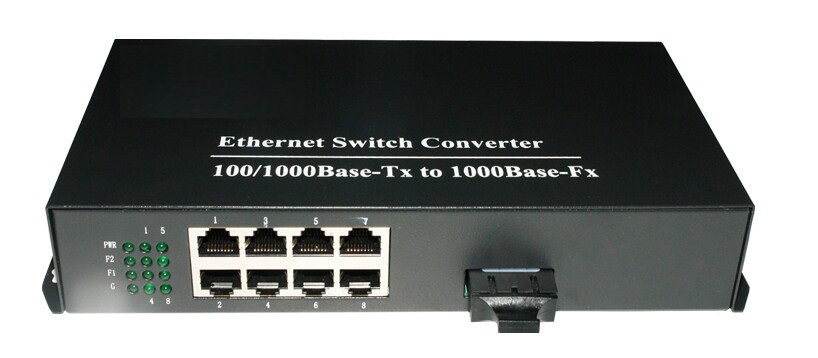 Single-mode dual fiber 100/1000Mbps 8port Ethernet optic media converter SC ethernet switch - vscheap trade CO., LTD.'s store
