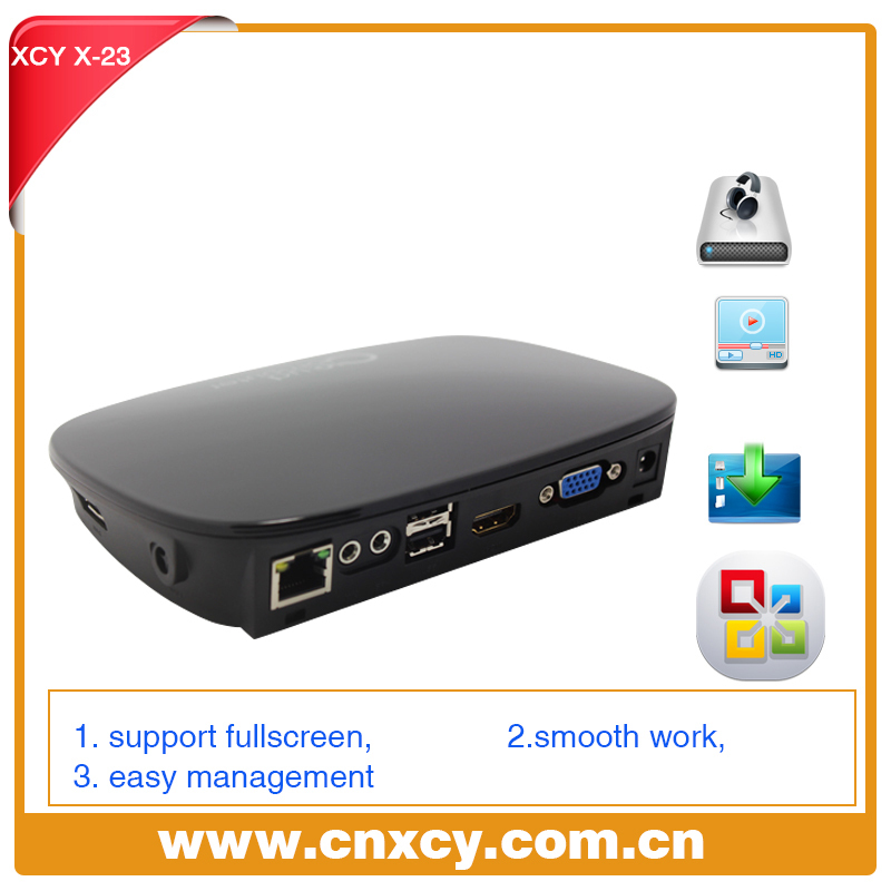 Ncomputing mini computer PC station thin client model XCY X-23 support online video display audio input and output(China (Mainland))