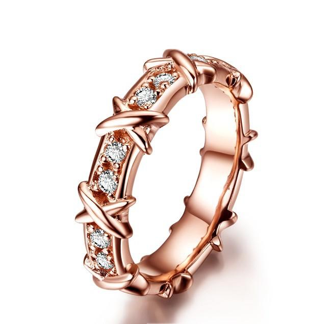 Wholesale Recently Popular Women T Fork Ring Plating Rose Gold Good Custom Custom Engagement Ring For Outstanding Women(China (Mainland))