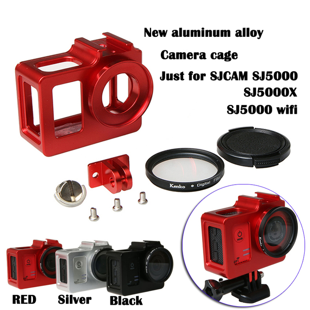 2016 New Camera Accessory, Aluminum Alloy cage/ Protective Housing Case Metal frame,UV gift for SJCAM SJ5000 WIFI/SJ5000/SJ5000X
