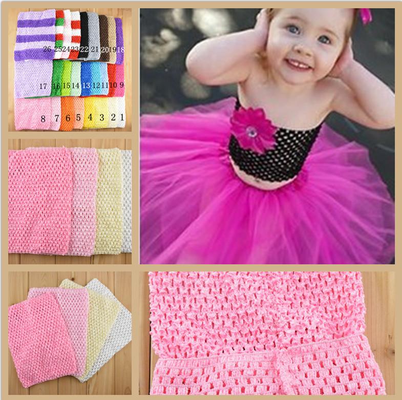 Retail New 20cmX23cm Baby Girl 9inch Crochet Tutu Tube Tops Chest Wrap Wide Crochet headbands Christmas gift drop shipping(China (Mainland))