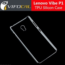 Lenovo Vibe P1 Silicon Case 100% Original Clear TPU Protector Cover For Lenovo P1 Mobile Phone +Free Shipping