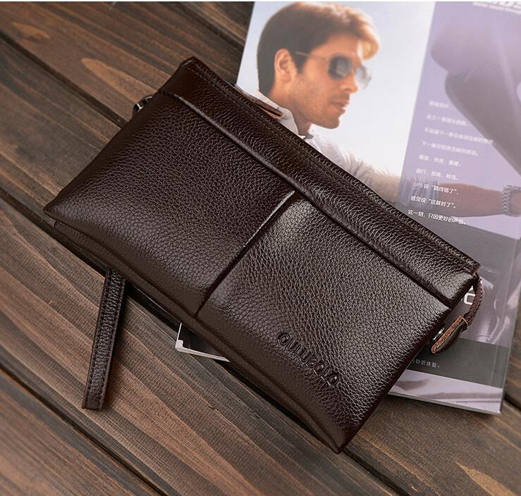 2015 Men Leather handbags carteira masculina New Fashion men wallets purses and handbags Famous brand Wallet Free Shipping K<br><br>Aliexpress