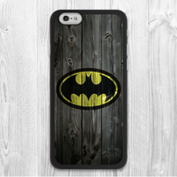 Batman On Wood Protective Cover case for iphone 4 4s 5 5s 5c 6 6s plus samsung galaxy S3 S4 mini S5 S6 Note 2 3 4 z0086