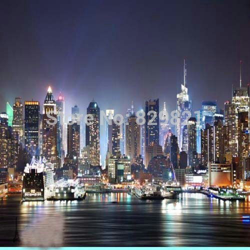 3d large city night murals wallpaper wall paper wall print